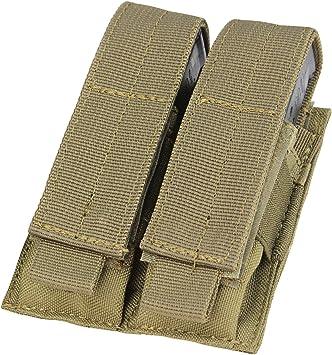 MiOYOOW Pochette Double pour Chargeur Porte-Pochette Pistolet Mag Holster Double Pile avec Clip de Ceinture Adapt/é