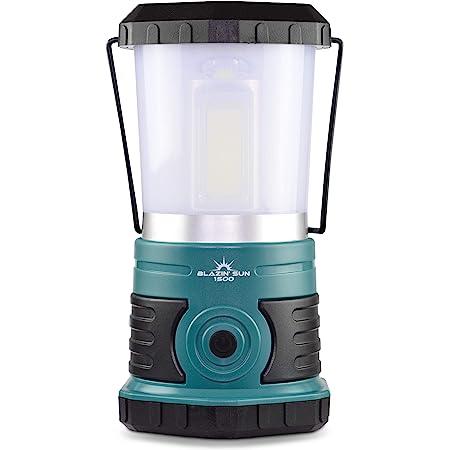 Blazin' Sun Rechargeable LED Lantern 1500 Lumen | Frosted Cap Soft Light | 360 Degree COB Light | Hurricane, Emergency, Storm, Power Outage Light | 4 Modes 25 Hours