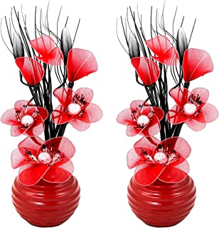 Moyen Blanc Flourish Creative Florals 5055278722722 Composition Florale Artificielle 80cm Polyester Noir