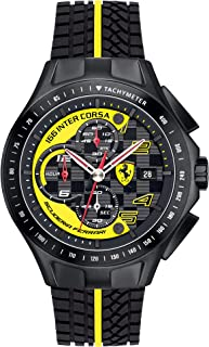 Scuderia Ferrari Men's Quartz Watch, Analogue Classic Display and Silicone Strap 0830078
