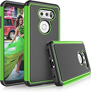 LG V35 ThinQ/LG V30S ThinQ Case, LG V30 / LG V30 Plus Cute Case, Tekcoo [Tmajor] Shock Absorbing [Green] Combo Rubber Silicone & Plastic Scratch Resistant Bumper Sturdy Grip Hard Cover Cases