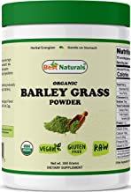 Best Naturals Certified Organic Barley Grass Powder 300 Grams - Contains Naturally Occurring nutrients, Including Chloroph...
