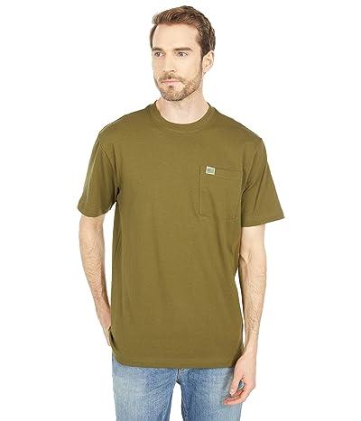 Filson Short Sleeve Pioneer Solid One-Pocket T-Shirt (Fast Track) (Dark Olive) Men