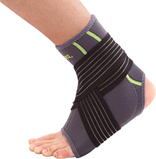 SENTEQ Ankle Brace with Gel Pad - Breathable Neoprene Sleeve Provides Support, Compression and Pain Relief. Medical Grade and FDA Approved for Sprains, Strains, Arthritis and Torn Tendons. L