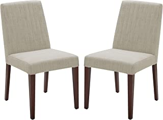 Rivet Contemporary Channel-Back Dining Chair, 35