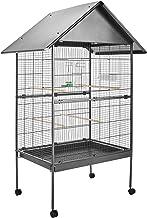 TecTake 800449 Jaula para Pájaros, Pajarera XXL con Ruedas, para Aves Canarios Periquitos - Varios Modelos (con Techo   No. 402288)