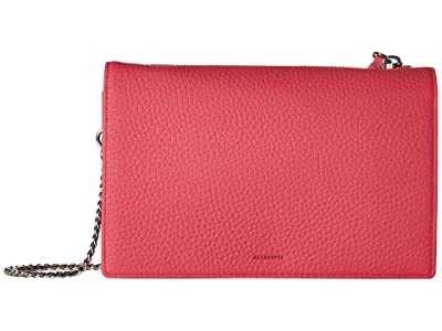 AllSaints Fetch Chain Wallet (Fuchsia Pink) Wallet Handbags