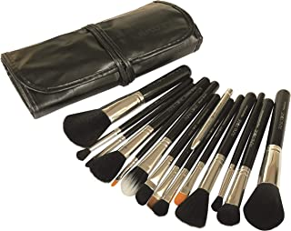 Puna Store 15 Piece Makeup Brush Set - Black + Silver