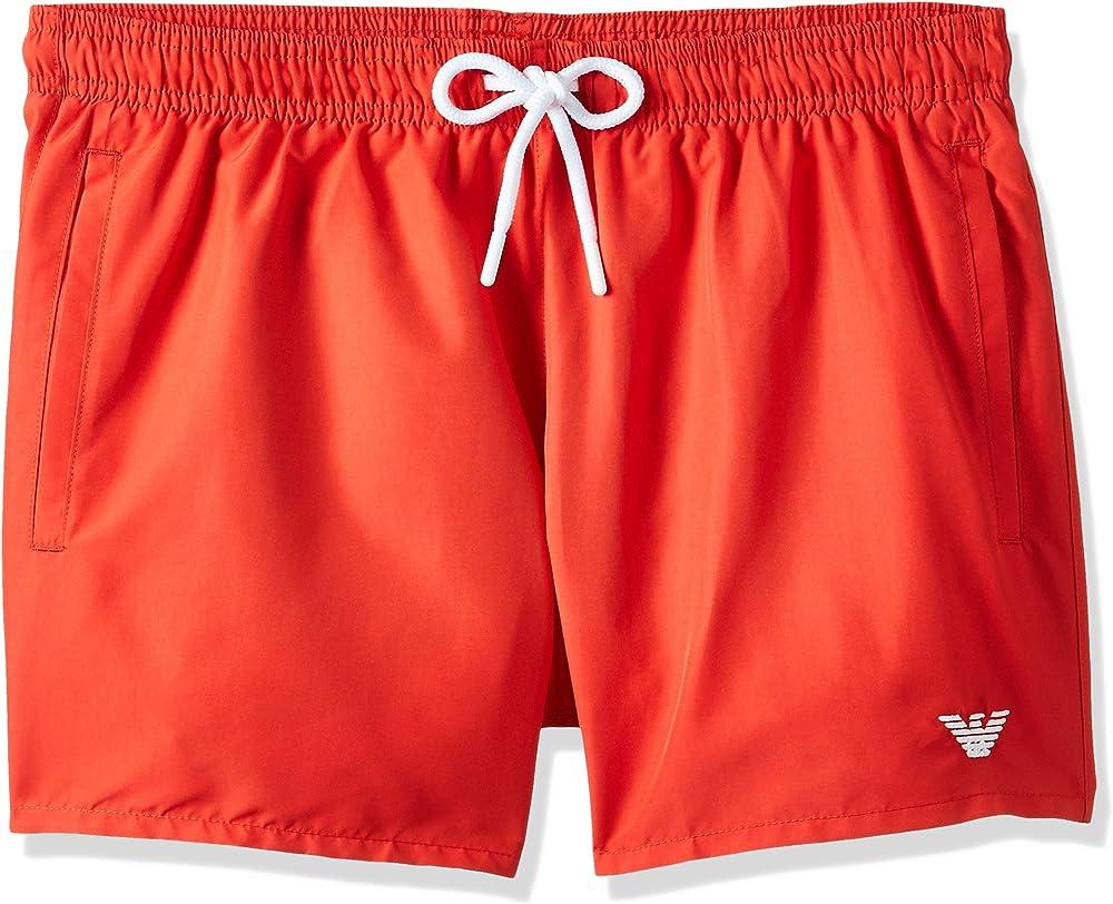 Emporio armani swimwear shorts, costume da bagno uomo, 100% poliammide; ROSSO 0P438211752