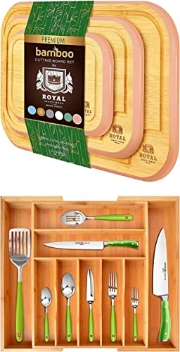 Pink Cutting Board Set of 3 and Silverware Drawer Organizer