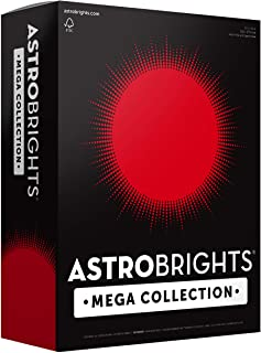 """Astrobrights Mega Collection, Colored Paper, Ultra Red, 625 Sheets, 24 lb/89 gsm, 8.5"""" x 11"""" - MORE SHEETS! (91692)"""