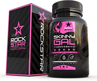 Skinny Gal Weight Loss For Women, Diet Pills by Rockstar, Thermogenic Diet Pill and Fat Burner, Weight Loss Pills, 60 Veggie Caps