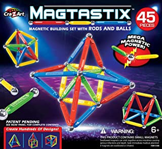 Cra-Z-Art Magtastix Balls & Rods Building Kit (45 Piece) (Package May Vary)