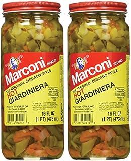 Marconi - The Original Chicago Style Hot Giardiniera - 16 oz (2 Pack)