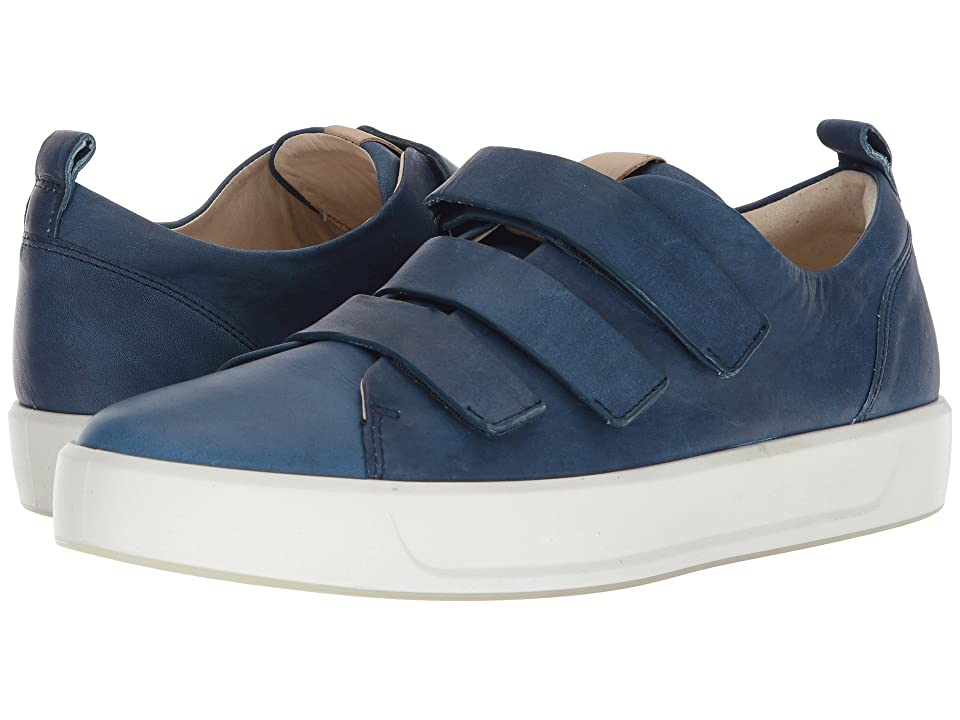 ECCO Soft 8 3-Strap (Indigo 7/Powder) Men