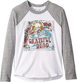 Super Soft Grateful Dead Print Long Sleeve Raglan Tee (Little Kids/Big Kids)