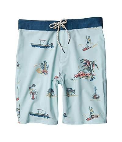 Salty Crew Kids Pescador Boardshorts (Little Kids/Big Kids) (Aqua) Boy