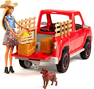Barbie GFF52 Sweet Orchard Farm Truck and Doll with Pet Dog and More