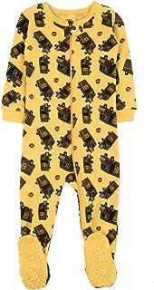 Leveret UPS Truck Baby Girls Boys Footed Pajamas Sleeper 100% Cotton Kids & Toddler Pjs (6 Months-5 Toddler)