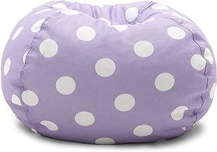 Big Joe , Lavender Polka Dot Classic Bean Bag Chair, Lavendar with White
