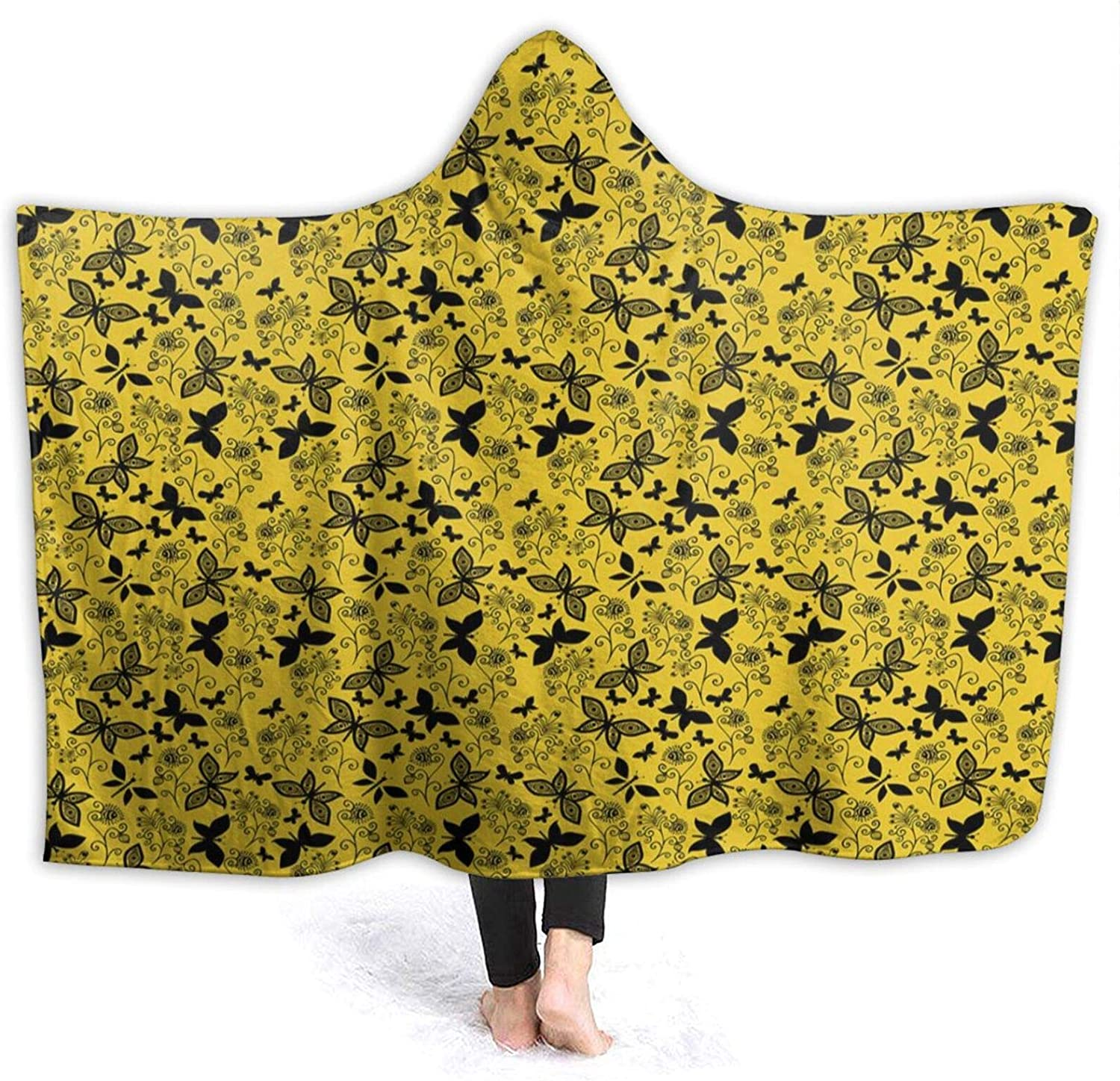 Hooded Blanket El New products, world's highest quality popular! Paso Mall Anti-Pilling Flannel Monochromatic Abstract Patte