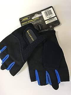 Golds Gym Men's Weightlifting Gloves, Black/Royal Blue, Size Large