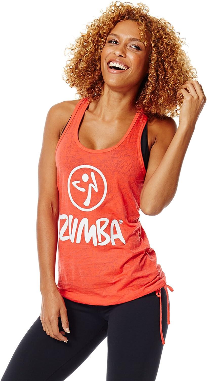 Zumba Women's Spasm price Bubble Hem Breathable Print Workout Max 44% OFF Top Rev Tank