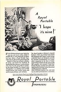 Print Ad 1930 Royal Portable Typewriters