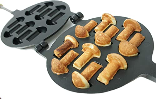 Non-stick Coating Cookie Mold Walnut Mushroom Assorted Tasty Homemade Cookies Baking Tools & Accessories Cookie Presses Bakeware (10 Mushrooms) product image