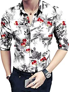 Shirt for Men's Floral Digital Printed Un-Stitched Shirt