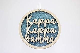 Sorority Shop Kappa Kappa Gamma – Laser geschnitzte Glitzer Schrift – 7,6 cm rund