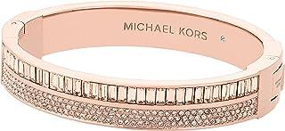 "Michael Kors ""Fashion Color Crush Rose Gold-Tone and Peach Hinge Bracelet"