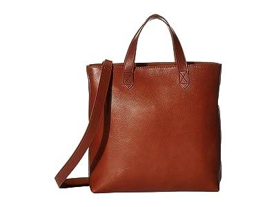 Madewell Small Inset Zip Transport Crossbody (English Saddle) Handbags