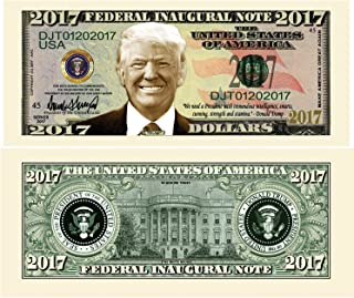 American Art Classics Pack of 5 - Donald Trump 2017 Federal Inaugural Presidential Dollar Bill Limited Edition