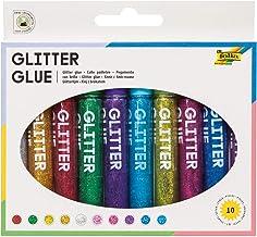 x 10,5 ml in Tube Panduro Glitter Glue Klebestifte mit Glitzer 18 St Bastelbedarf f/ür Erwachsene und Kinder