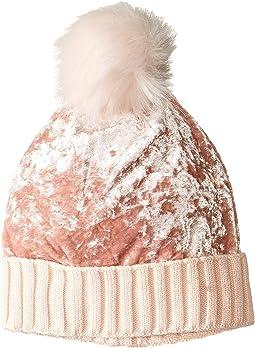 Crushed Velvet Cuff Hat