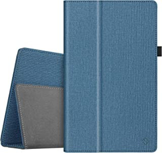 Fintie Folio Case for All-New Amazon Fire HD 10 Tablet (Compatible with 7th and 9th Generations, 2017 and 2019 Releases) - Premium PU Leather Slim Fit Stand Cover with Auto Wake/Sleep, Twilight Blue