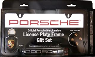 Porsche License Plate Frame Gift Set