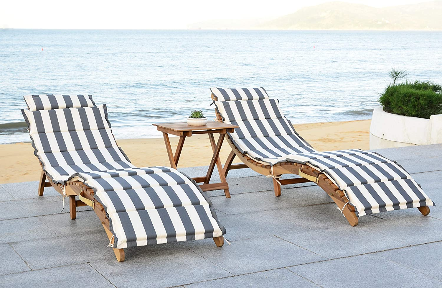 outlet Safavieh Outdoor Collection Pacifica Natural 3-Piece Max 60% OFF and Lo Grey