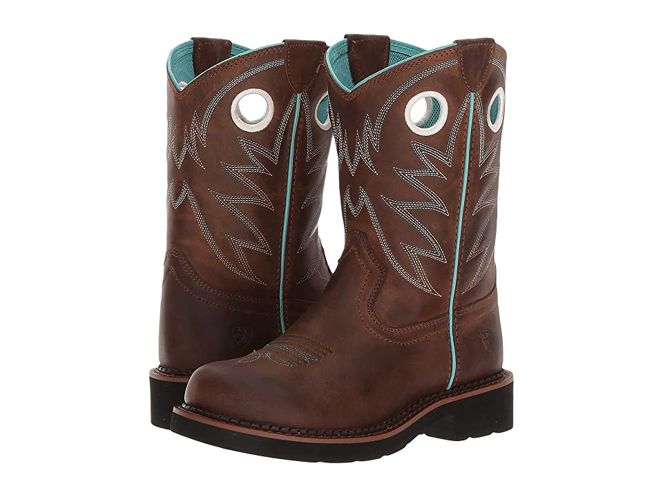 Ariat Kids Probaby (Toddler/Little Kid/Big Kid) (Distressed Brown) Cowboy Boots
