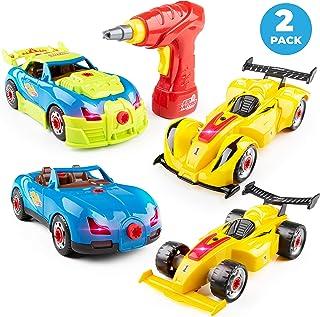 USA Toyz Kid Nitro Race Car Building Toys for Kids - 2 Pack Model Cars, Educational Toys Take Apart STEM Toys, Build Your ...