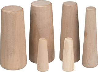 SEACHOICE 45411 Emergency Stopgap Assorted 1/2-Inch to 2-Inch Wood Plugs, Set of 6