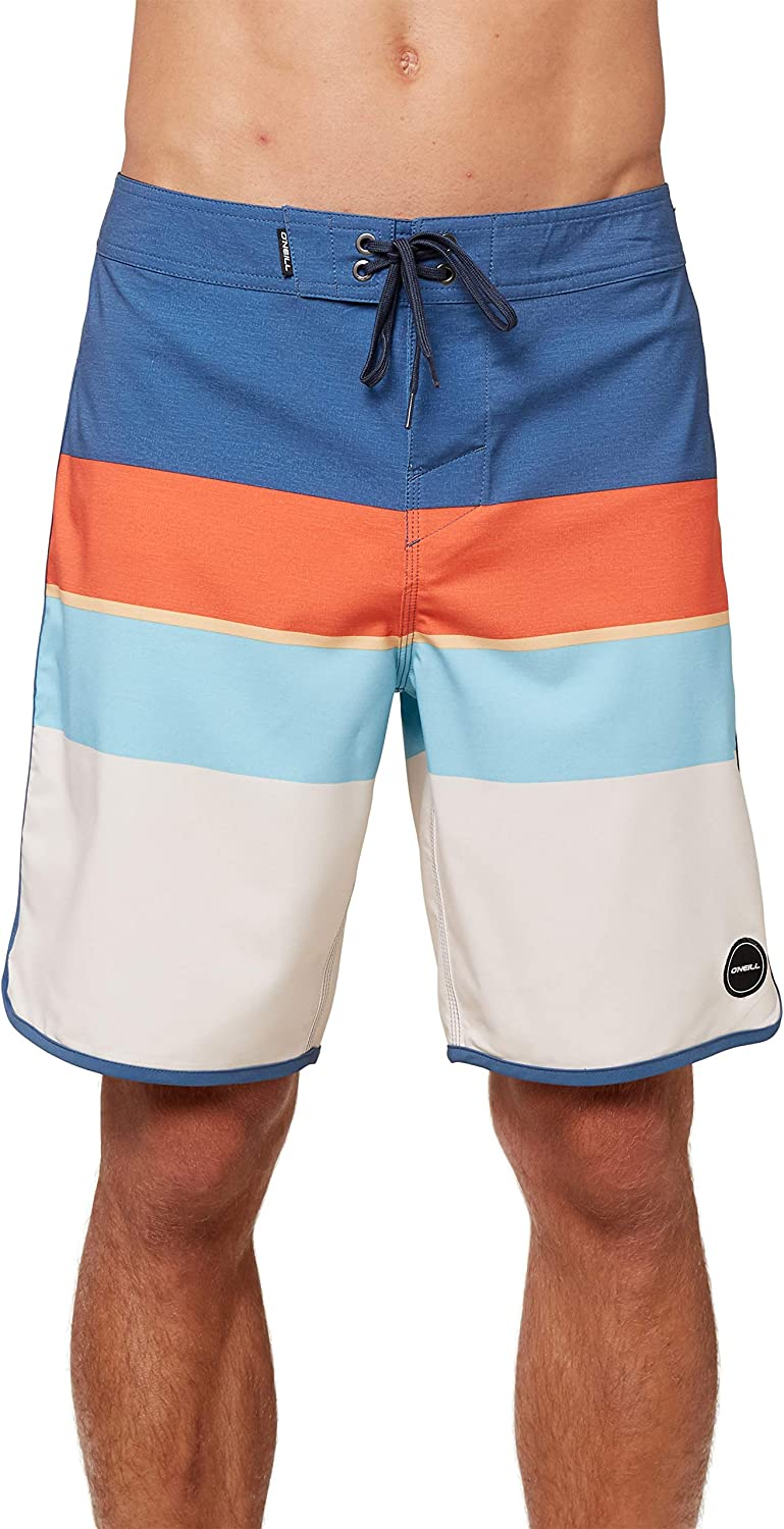 O'NEILL Men's Water Resistant Ultrasuede Classic Swim Boardshort, 19 Inch Outseam | Mid-Length Swimsuit |