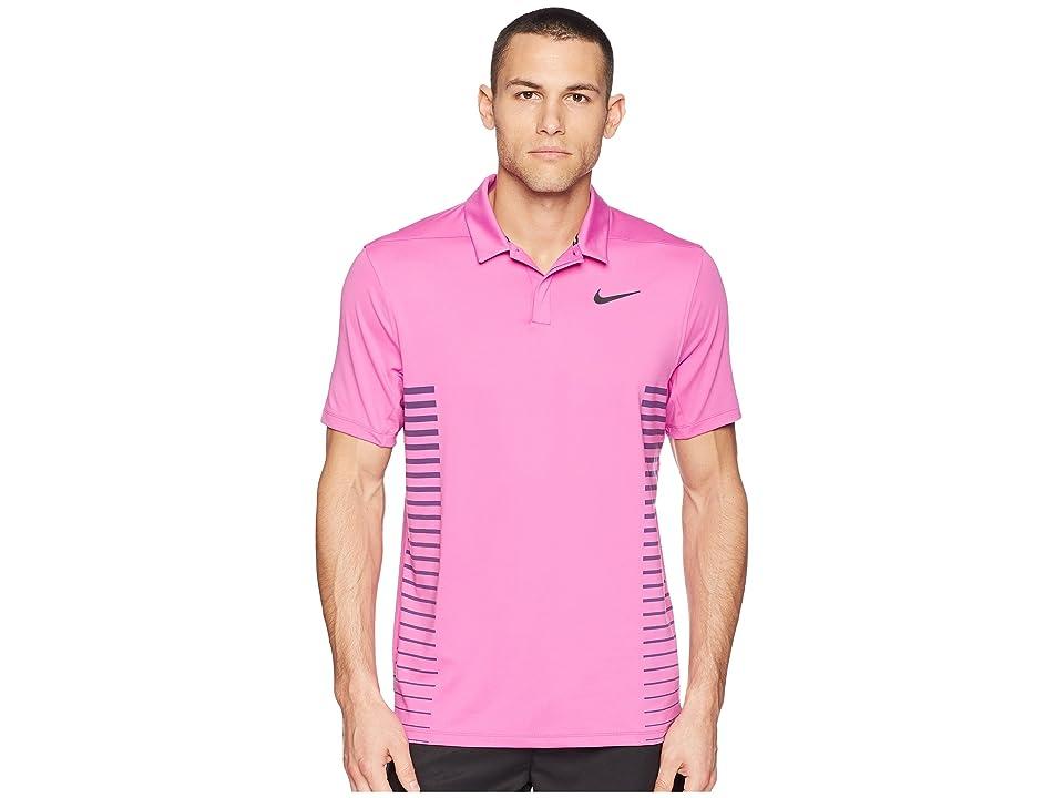 Nike Golf Zonal Cooling Print Polo (Hyper Magenta/Thunder Blue/Black) Men