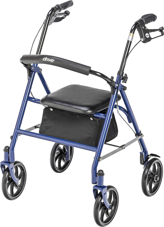 Drive Medical 10257BL-1 4-Wheel Rollator