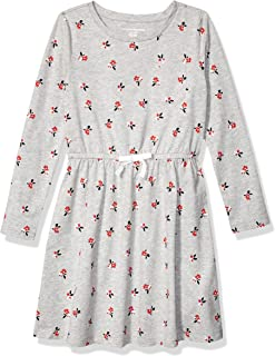 Amazon Essentials Girl's Long-Sleeve Elastic Waist T-Shirt Dress