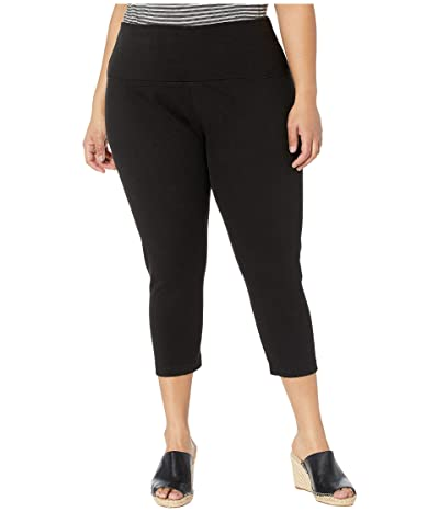 Lysse Plus Size Denim Capri (Black) Women