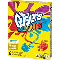Gushers Fruit Flavored Snacks Mouth Mixers, 6 Count, 4.8 Ounce