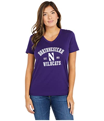 Champion College Northwestern Wildcats University 2.0 V-Neck T-Shirt (Champion Purple) Women