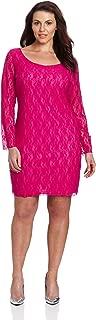 Women's Plus-Size Lace Sheath Dress